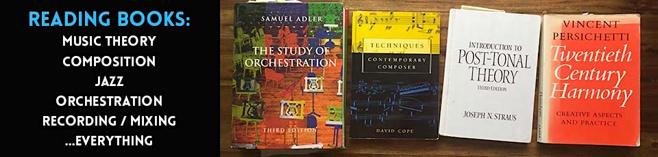 Reading music theory books