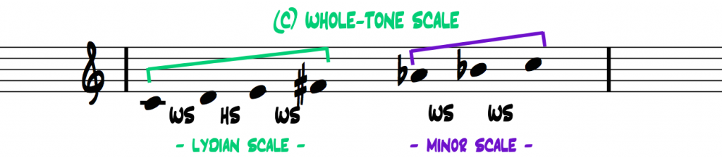 C-whole-tone-scale-interval-pattern-2-halves