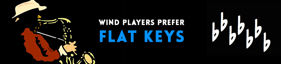 Wind-players-prefer-flat-keys