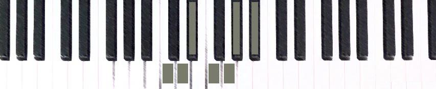 C minor scale half-steps